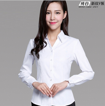 344128ef67cd2 2017 Korea White Women Office Blouse Stylish Formal Blouses For Ladies