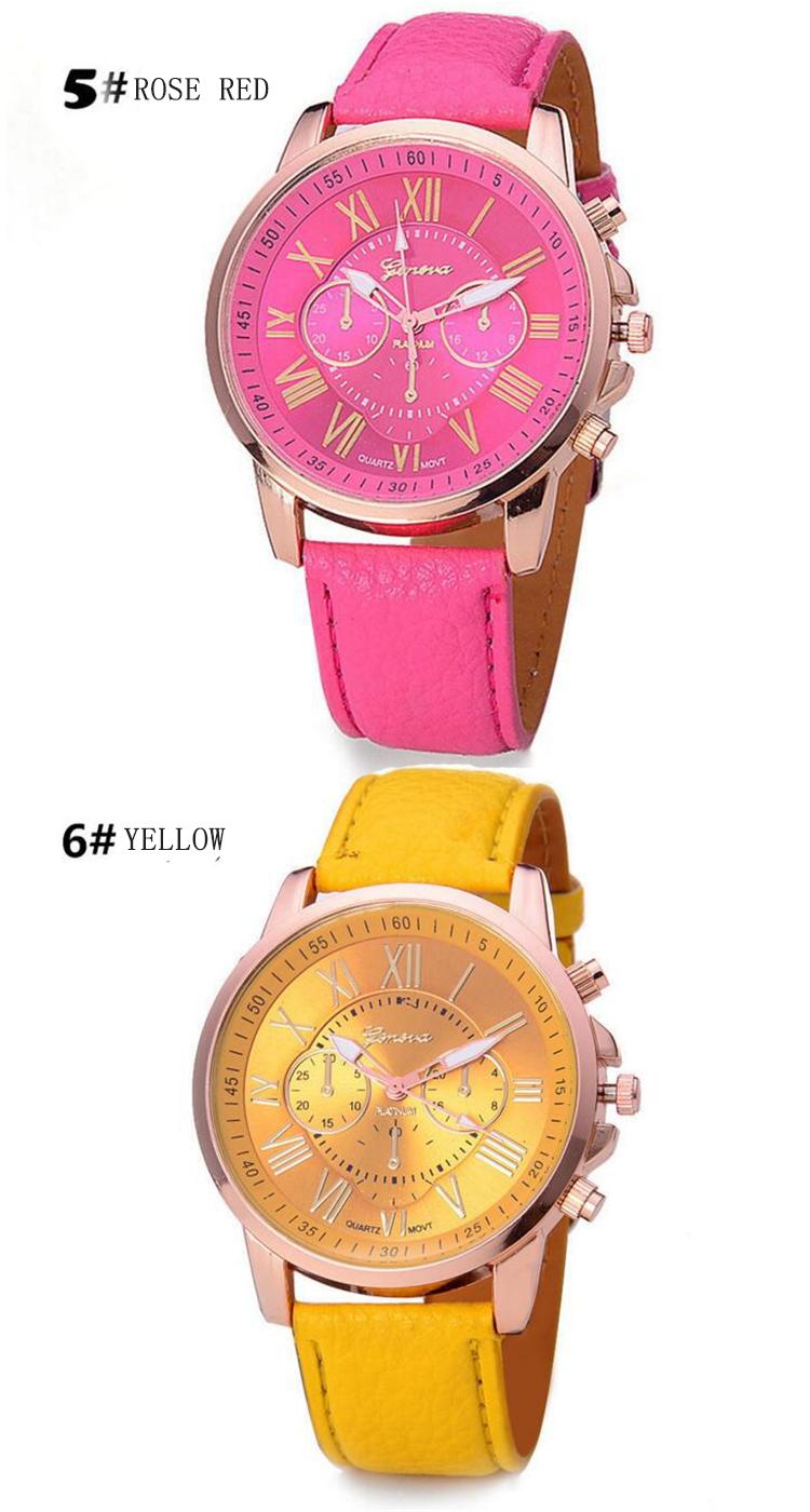 12 Unid Moda Colorida Ginebra Relojes Mujeres Venta Al Por