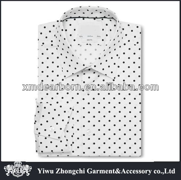 Slim Fit white with black dot shirt