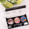 Hot sale high quality 3 colors baked eyeshadow glitter eyeshadow palette