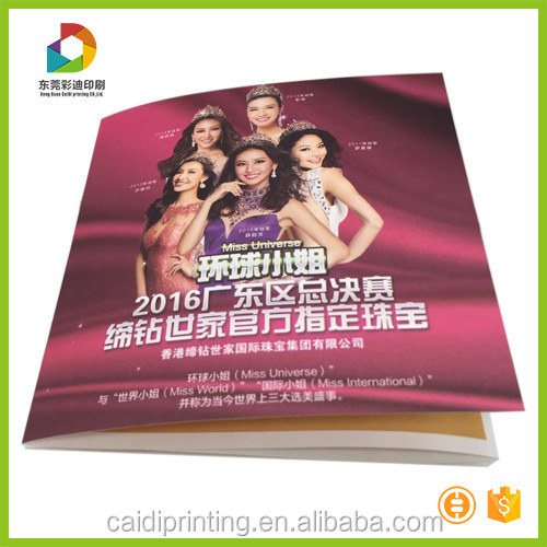 Foldable Advertising Brochure Booklet Printing