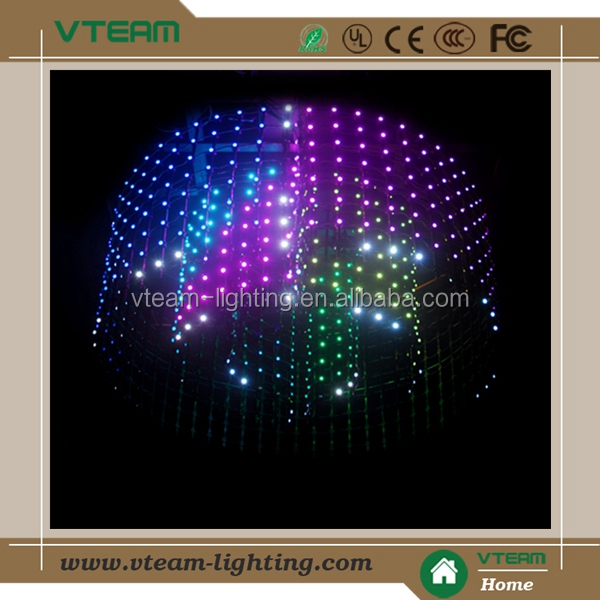 Irregular shaped display effect flexible led screen videos in led display
