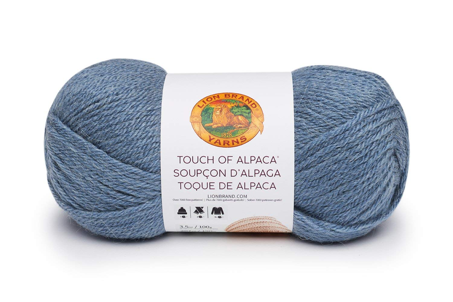 Dusty Blue Lion Brand Yarn 124-108 Touch of Alpaca Bonus Bundle Yarn
