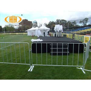 Custom Design cheap crowd control barrier yellow temporary fence tubular hdg crowd control barrier