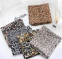 $1 new stock cheap fashion women 70cm leopard square scarf