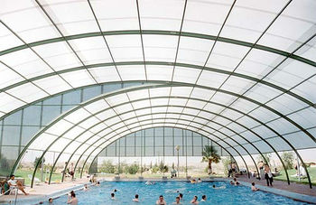 Daylight Polycarbonate Swimming Pool Roofing - Buy Swimming Pool ...