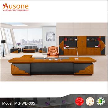 2018 Latest Modern Executive Office Desk, Wooden Veneer Office Counter Boss  Computer Table Design
