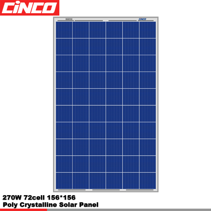 Poly crystalline 60cell series 270w Photovoltaic Solar Panel