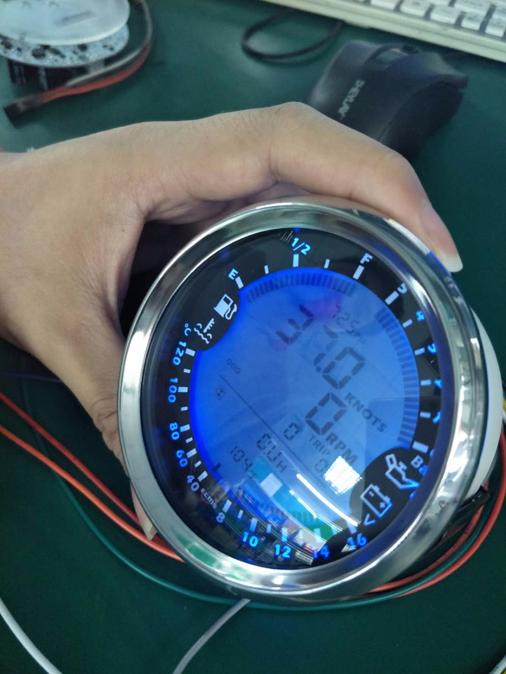 New 6 In 1 Multi Functional Gauge Meter Gps Speedometer Tachometer Speedometers Speed Sensor Vdo 37912847678053419 3 8