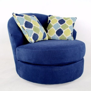 Sofa fabric round floor chair sitting for living room
