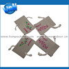 Specialized gift pouch linen pouch with priting linen packing bag