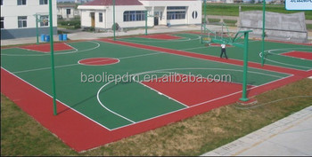Outdoor basketball court paint basketball surface court for Sport court paint
