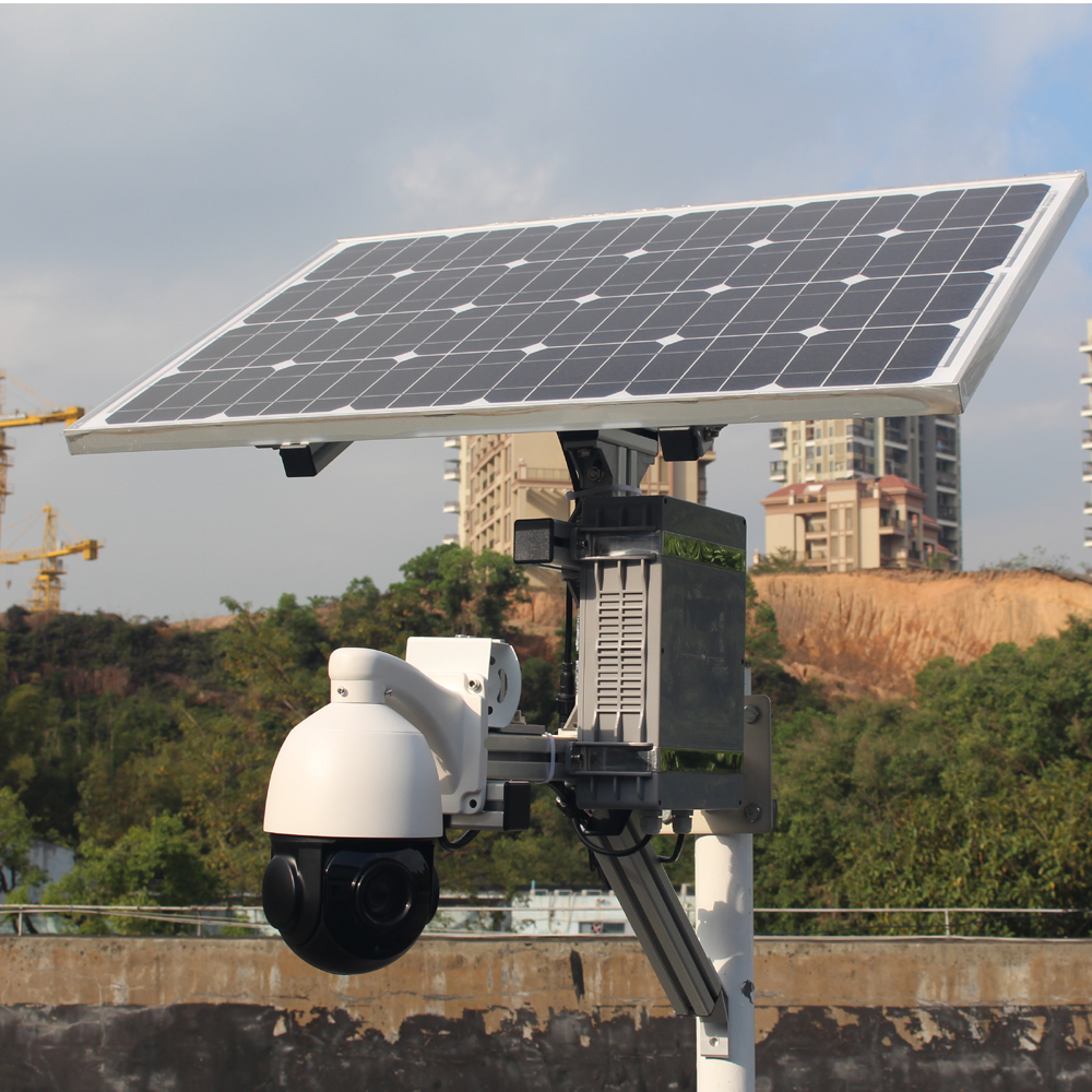 GOING tech WiFi 4G 3G solar ptz  lte cv solarct ip camera  with alarm and audio 128g recording card