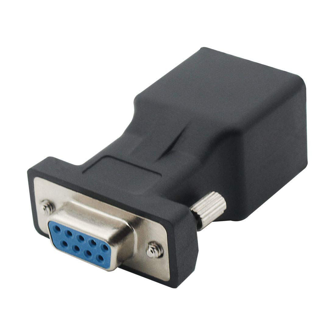 DB9 RS232 Female Port to RJ45 Female Connector Card DB9 Serial Port Extender to LAN CAT5 CAT6 RJ45 Network Ethernet Cable Adapter