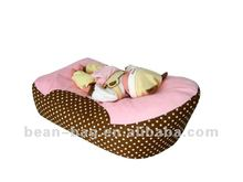 New Style Printing Suede Cozy Baby Crib Bed