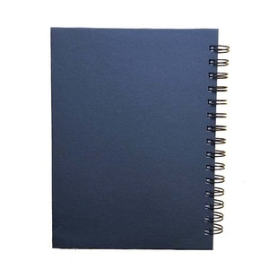 Promotional LOGO printed pvc hardcover spiral custom notebook