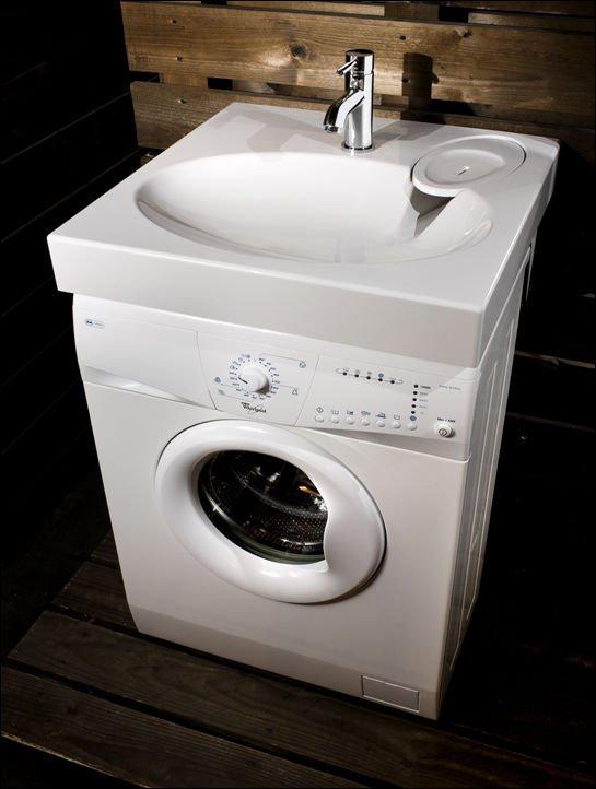 risparmio di spazio extra piatto lavandino del bagnolavabo con angolo di scarico