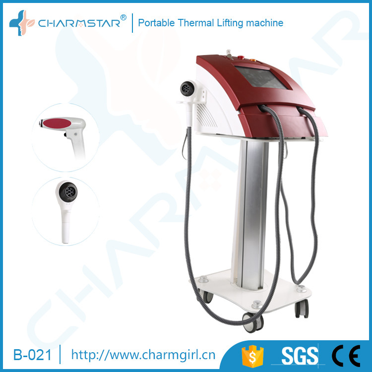 Portable thermo slim radio frequency skin tightening machine