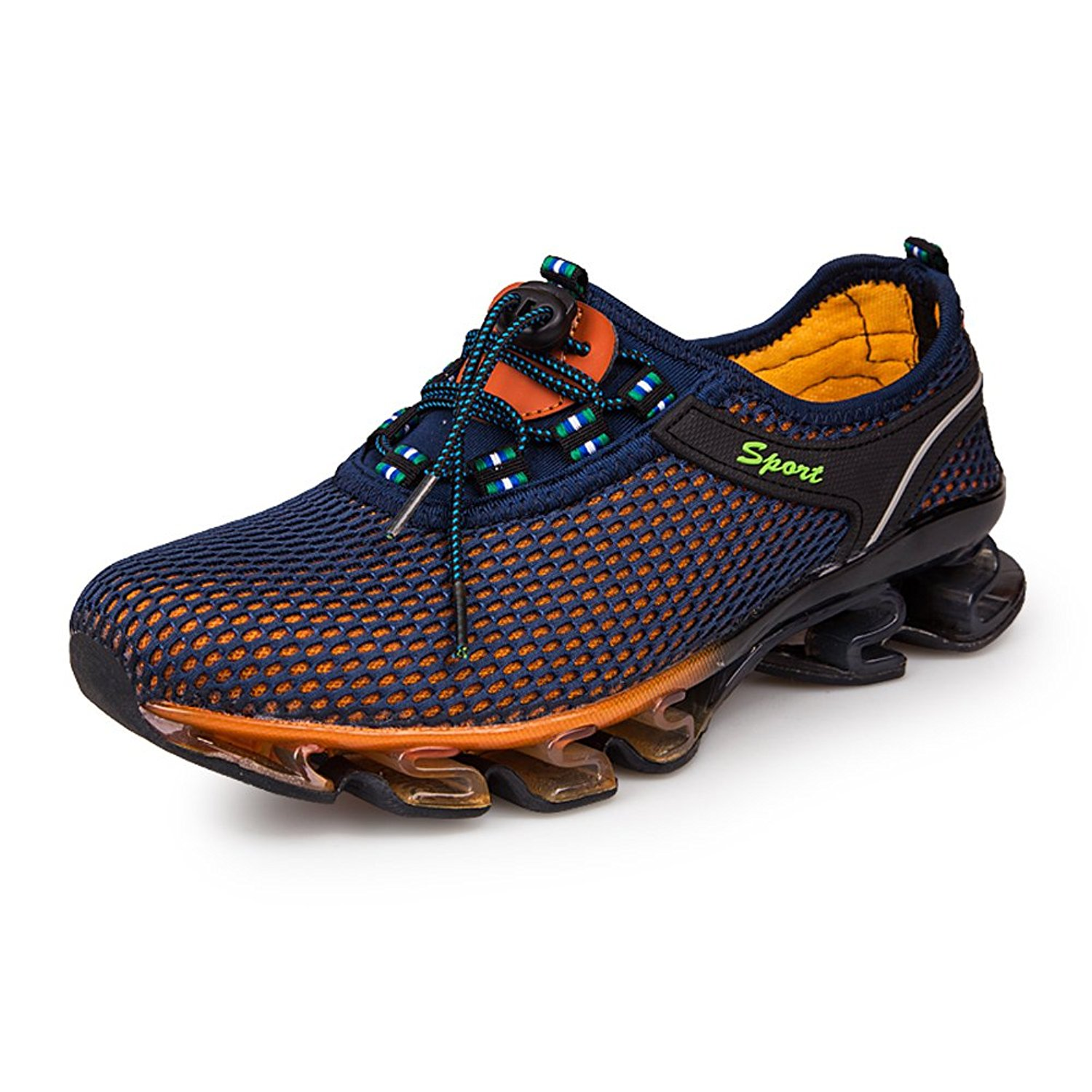 ed4861fa314c Get Quotations · Running Shoes Men Mesh Casual Slip On Breathable Fashion  Stylish Sneakers Athletic Springblade Walking Big Size