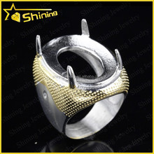 wholsale Indonesia hot sell popular large gemstone titanium rings for boys