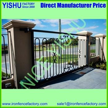 Sliding Wrought Iron Big Gates Beautiful Design Decorative Gate Designs -  Buy High Quality Wrought Iron Big Gates,Sliding Gates Beautiful