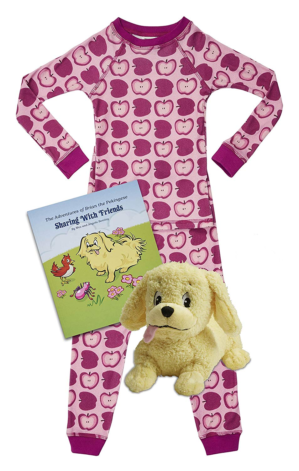 Brian the Pekingese Boys & Girls Organic Cotton Pajamas, Plush Toy & Children's Book Bedtime Gift Set