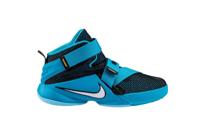 7400fd6e655173 Buy Nike 776471-084 LeBron Soldier IX Kids Basketball Shoes Black ...