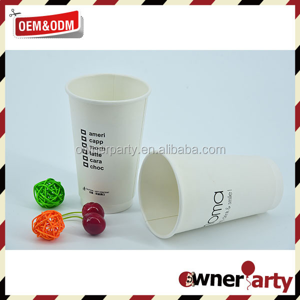 White Hot Cold Drink Paper Cup Printed Party Cup