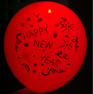 New Year party flashing led lighted up balloon