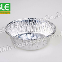 70ml 4'' Standard Disposable Catering Round Aluminum Foil Dishes Container Plate Tray Cake Baking (1056)