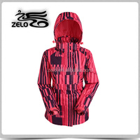 Lady's allover printed functional wind stop jacket