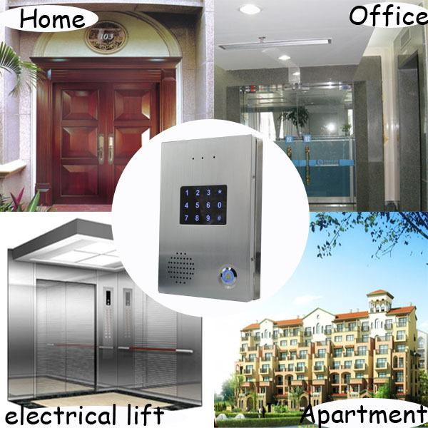 Rfid Card Swipe Multi Apartmen Door Phone Door Entry Ip Intercom