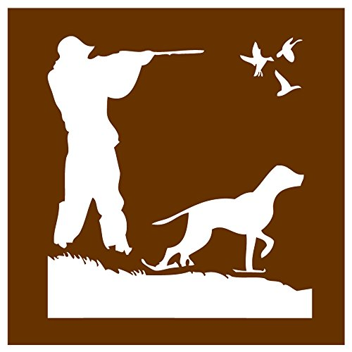 Auto Vynamics - STENCIL-HUNT-DUCKS - Hunting Ducks w/ Dog Individual Stencil from Detailed Hunting w/ Dogs Stencil Set! - 10-by-10-inch Sheet - Single Design