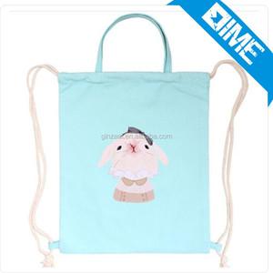 Custom Cotton Canvas Drawstring Backpack Bag Online Shopping Bag efa85b9273