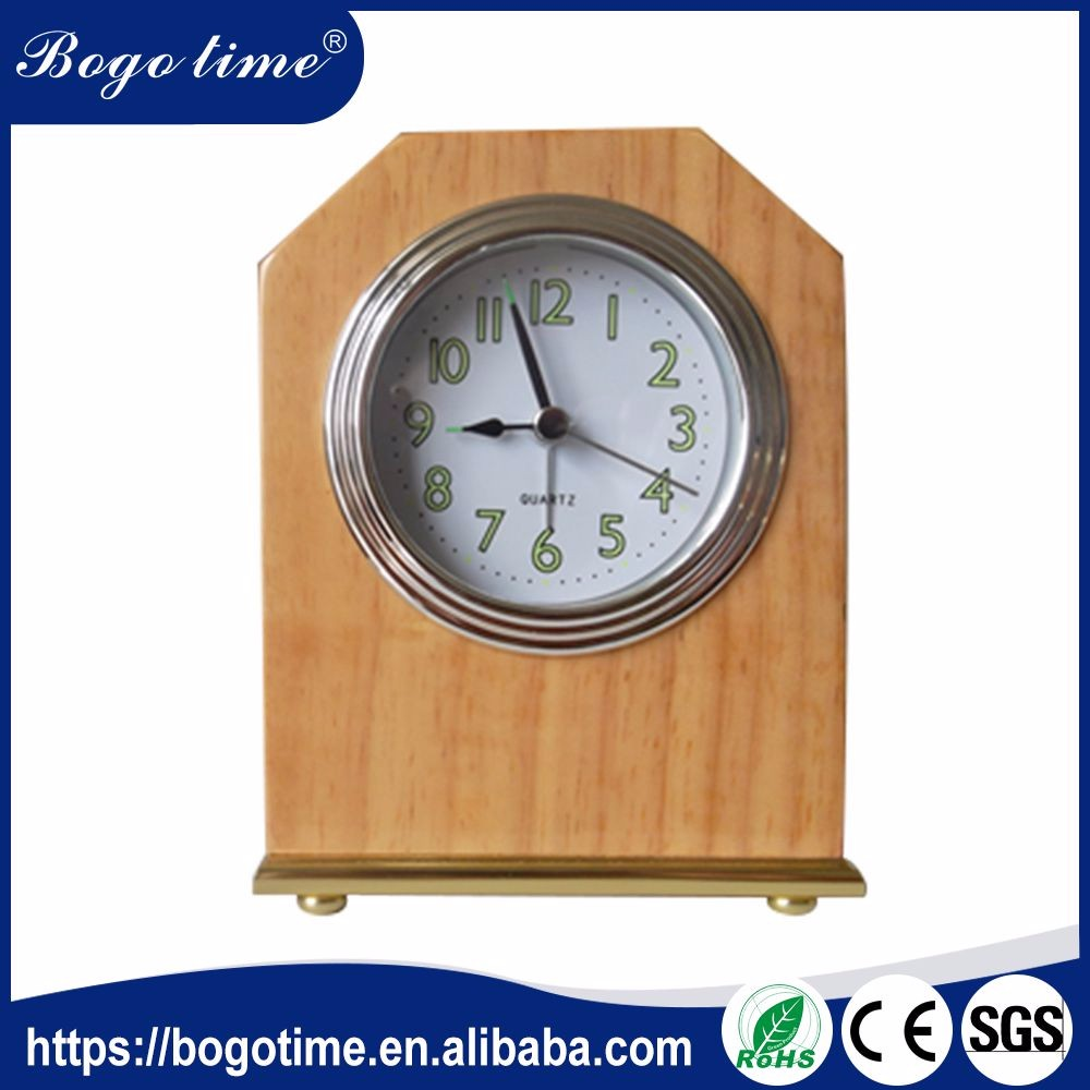 Latest new model quality Assurance wooden mechanical table clock