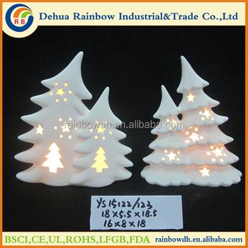 White Porcelain Decoration Lighted Ceramic Christmas Tree Buy Ceramic Christmas Tree Lighted Ceramic Christmas Tree Christmas Decoration Product On