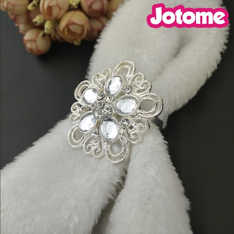 Großhandel 50mm Blume Form Goldsilber Big Kristall Diamant Hochzeit Serviette Ringe Buy Gold Serviette Ringekristall Diamant Serviette