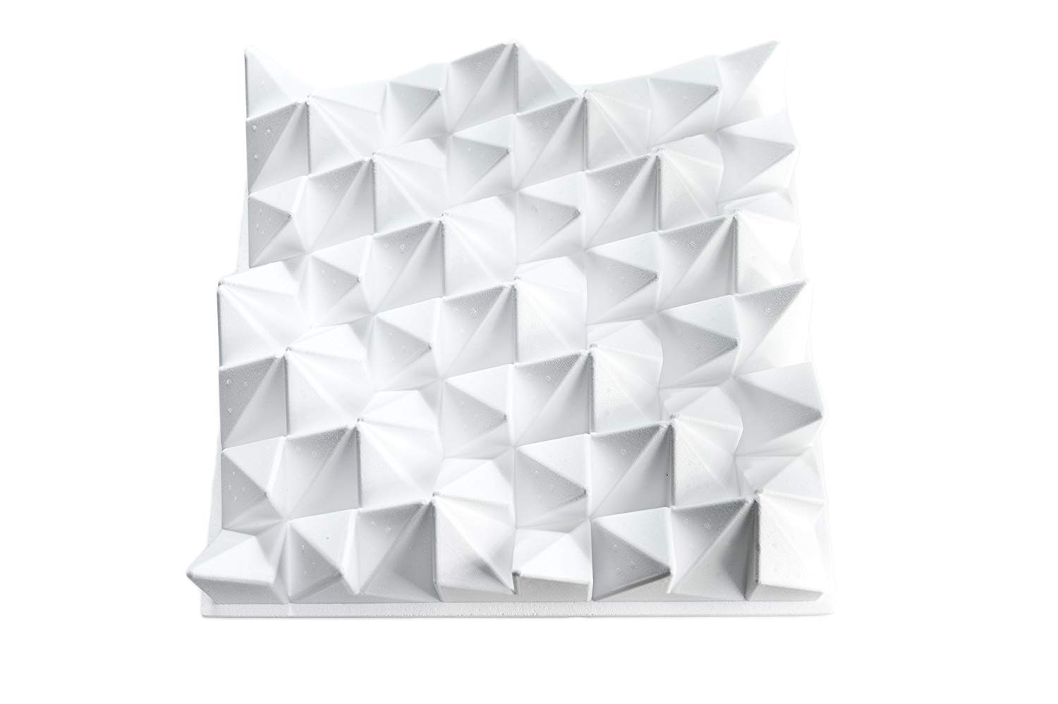 """JOCAVI Acoustic Panels COR060 ATP CORALREEF Acoustic Diffuser Panel, EPS Raw 23.6"""" x 23.6"""" x 4.73"""", White"""