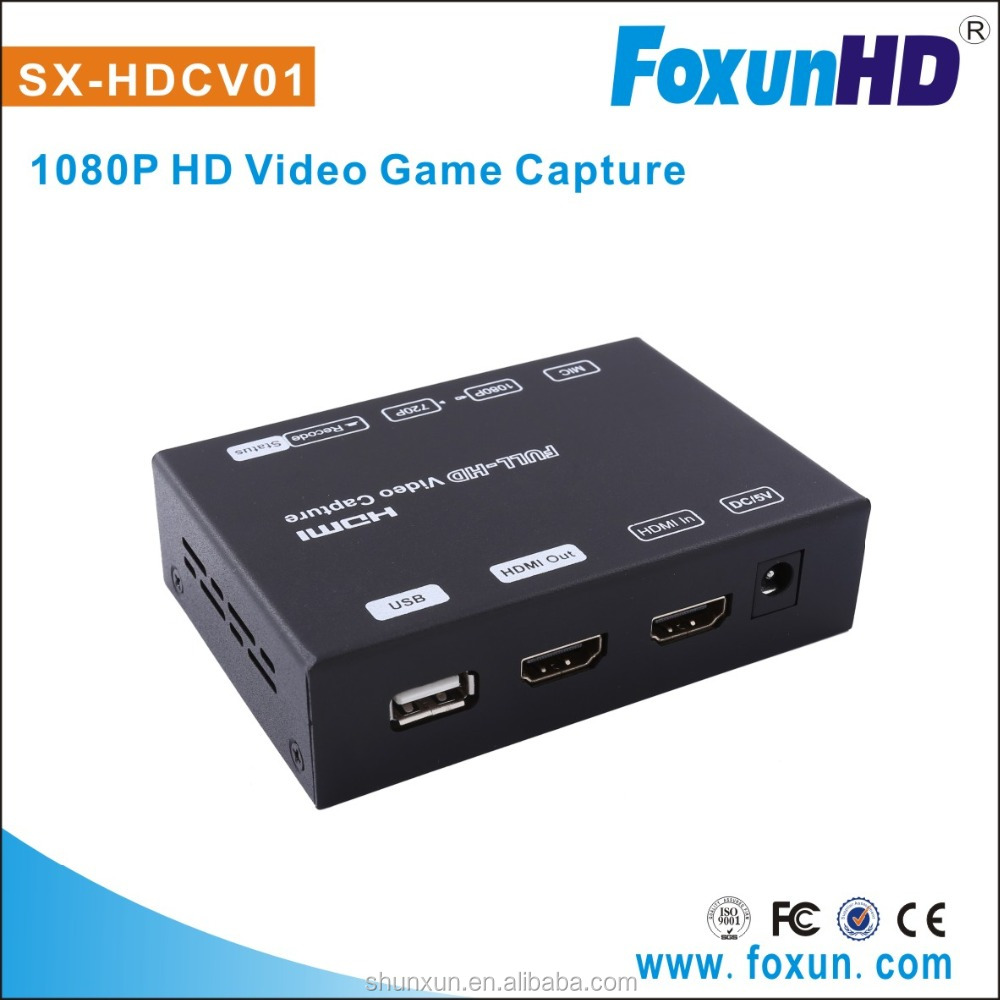 HD Record For Game Fans, HD Game video Grabber Box for PS3/4, XBOX 360