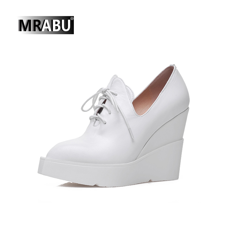 hot 2017 casual shoes genuine leather shoes women wedge sneakers women's shoes