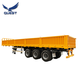 QUEST Tri Axle 40 Tons Curtain Side Wall Semi Truck Fence Cargo Trailer