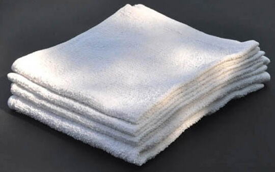 "Wholesale Bar Mops 15x18"" White Terry"