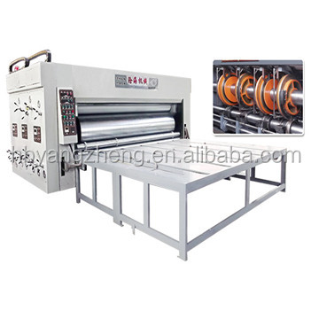 Chain feeder 2 color flexo printing machine for corrugated carton box
