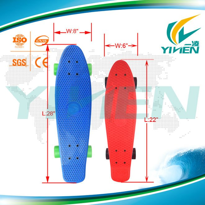 Complete Plastic Skateboard with Pu wheels for wholesale