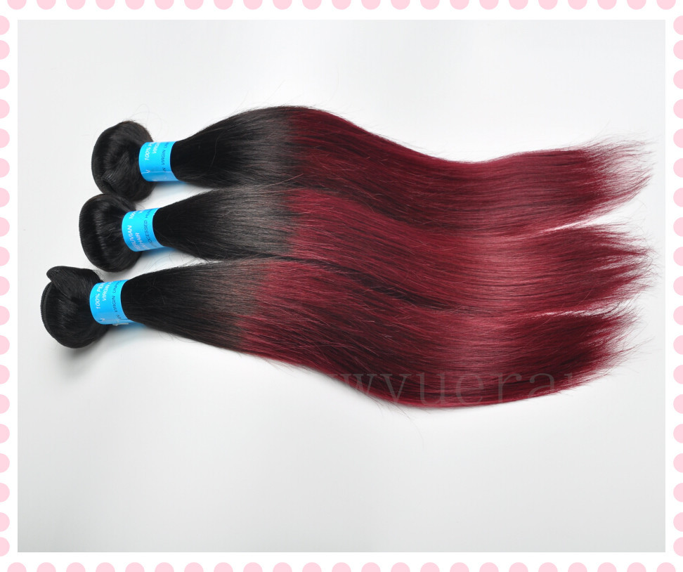 Buy Brazilian Virgin Hair Straight 3pcs Ombre Hair Extensions T1b