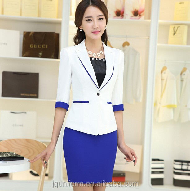 New model korean style office uniform designs modern women for Office uniform design 2016