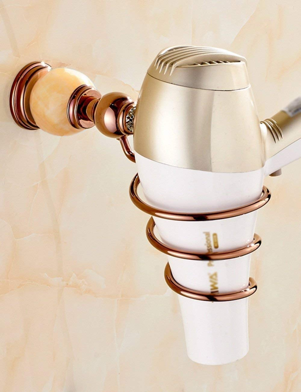 L.I. A European-Style Bathroom Racks of a Hair Dryer Hair Dryer Rack Copper Gold (Color 3, Size: (a)