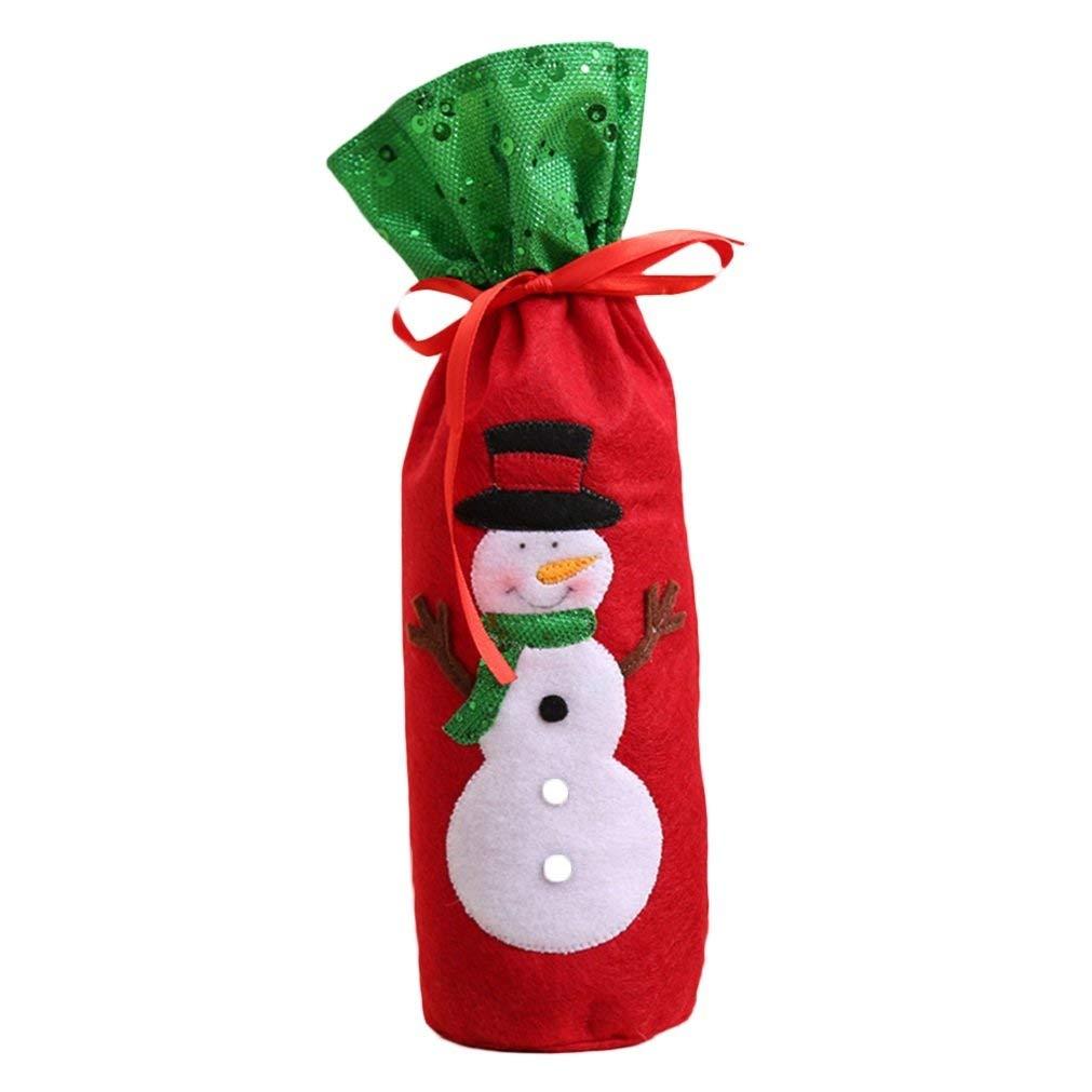 f72cb1a895136 Get Quotations · Quietcloud Bottle Bag Cover Xmas Decor size Snowman