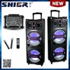 12V/7A Battery Dual DJ Party Portable Rechargeable Professional Trolley Bluetooth Speakers