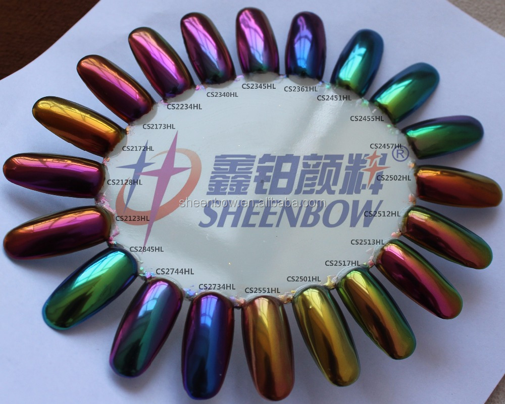 Chameleon Chrome Nail Pigment Powder,Color Changing Pearl Pigments ...